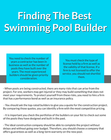 Finding The Best Swimming Pool Builder Swimmi