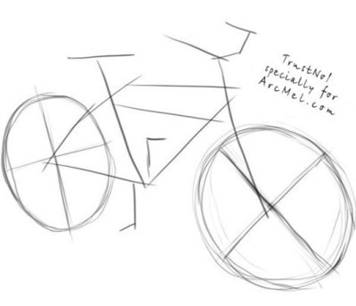 bike drawing tutorial in drawing and painting tutorials