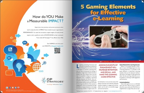 5 Gaming Elements for Effective e-Learning | Time to Learn | Scoop.it