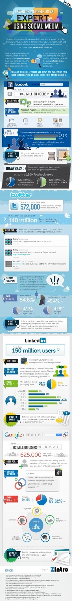 Leveraging Social Media to Showcase Your Expertise[INFOGRAPHIC] | All in one - Social Media ROI | Scoop.it