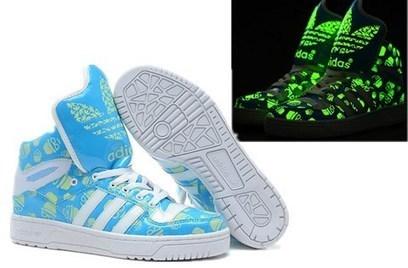 Adidas Glow In The Dark M Logo Attitude Sneakers New Blue For Men Women   glow-in-the-dark-0003  -  85.99   Adidas Glow In the Dark Shoes b7728a465e
