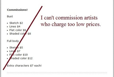 Really low prices make me less likely to commission an artist | artist-confessions | Black Fashion Designers | Scoop.it