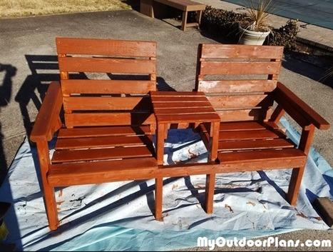 Excellent Big Double Chair Bench With Table Myoutdoorpl Creativecarmelina Interior Chair Design Creativecarmelinacom