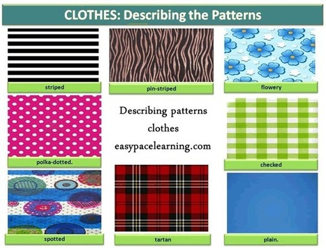 Patterns for clothes learning basic English | ESOL, TESOL, TESL, ESL | Scoop.it