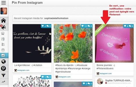 Tuto : Comment poster avec Tailwind un visuel Instagram vers Pinterest ? | Agence SophieTurpaud | Best of des Médias Sociaux | Scoop.it