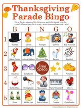 Thanksgiving Parade Activity | Printable Bingo Game - FamilyEducation.com | Tessa Winship.com Children's Picture Books | Scoop.it