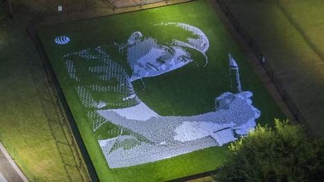 Un portrait du n°1 mondial de golf réalisé avec 25.000 balles - Le Figaro | actualité golf - golf des vigiers | Scoop.it
