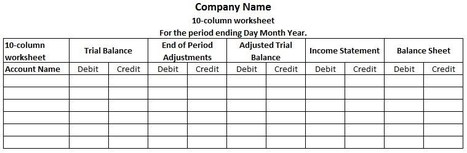 Basic Accounting Concepts Page 13 – Accounting Worksheet Template