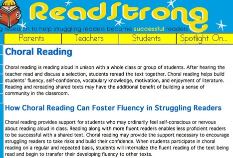 ReadStrong - Choral Reading | Teaching L2 Reading | Scoop.it