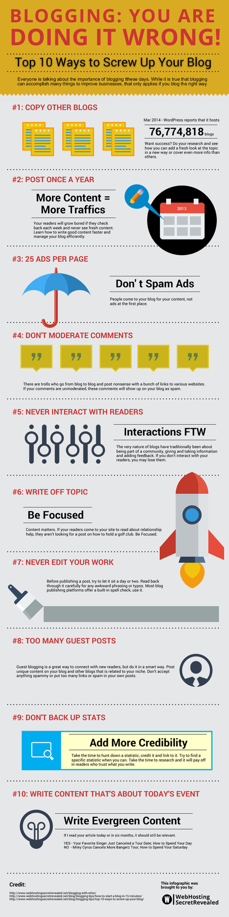[Infographic] 10 Blogging Mistakes to Avoid | The Joys of Blogging | Scoop.it