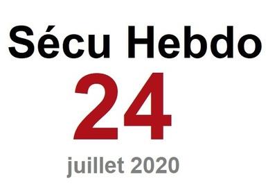 Sécu Hebdo 24 du 11 juillet 2020