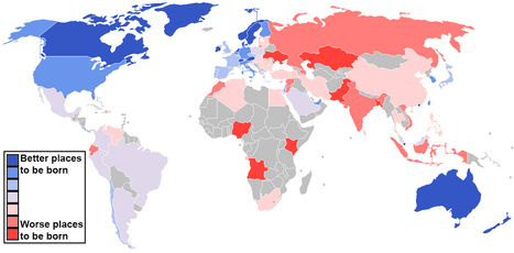 Map - Where are the best and worst countries to be born into today? | English Language Learning and Teaching | Scoop.it