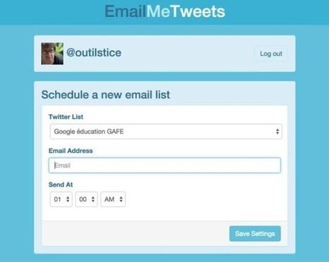 EmailMeTweets. Notifications par email de vos listes Twitter | Les outils de la veille | Outils CM, veille et SEO | Scoop.it
