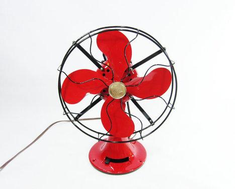 Vintage electric fan red black air circ vintage electric fan red black air circulation and ceiling fans scoop aloadofball Gallery