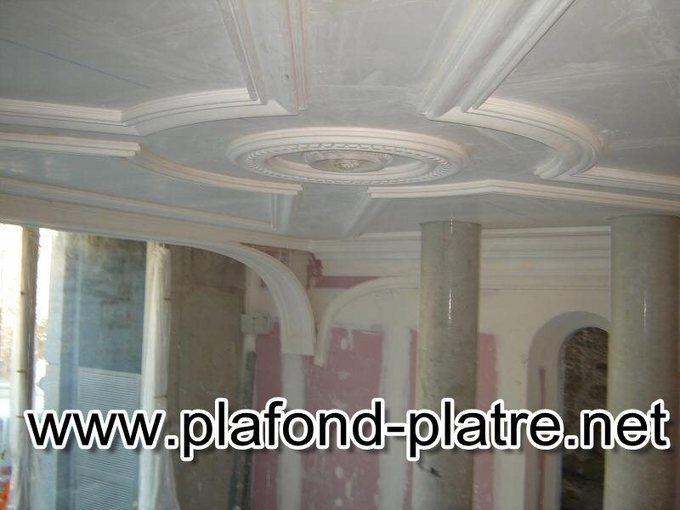 Colonnes en pl tre sculpt d eac - Colonne de decoration en platre ...