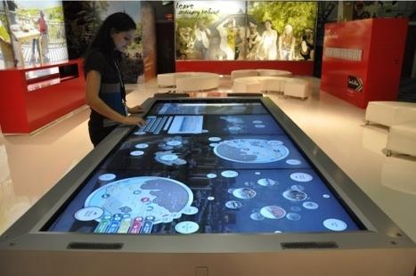 Une Table Tactile Geante Pour Lafrique D