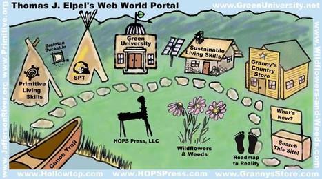 Thomas J. Elpel's Web World Portal: Primitive Living Skills, Sustainable Living Skills, HOPS Press, LLC, Dirt Cheap Builder, Green University, LLC, Society of Primitive Technology, Wildflowers and ...   HomeSustainability   Scoop.it