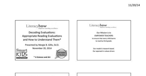 Decoding Evaluations-3.pdf | Dyslexia DiaBlogue® | Scoop.it