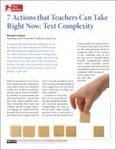 7 Actions that Teachers Can Take Right Now: Text Complexity » TextProject   ELA Common Core Standards (CCSS)   Scoop.it