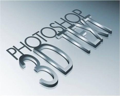 Create High Quality Metal 3D Text in PhotoShop | Website Design & Development | Scoop.it