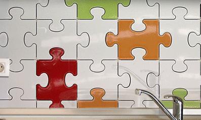un carrelage puzzle pour une d co design. Black Bedroom Furniture Sets. Home Design Ideas