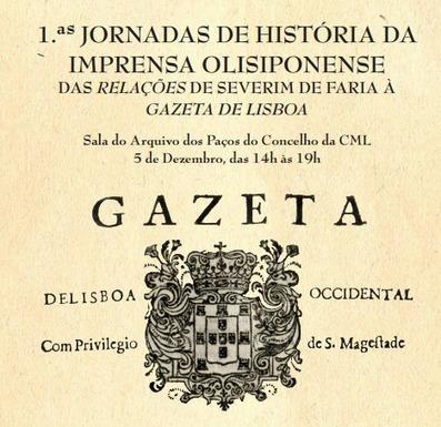Primeiras Jornadas de História da Imprensa Olisiponense - Folha em Branco | Pantapuff | Scoop.it