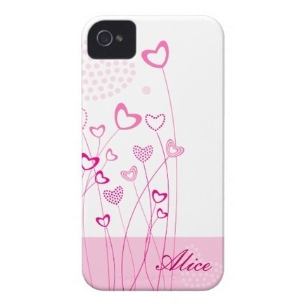 Pink Hearts with flowers iPhone 4/4S Case from Zazzle.com | Cute floral iPhone Cases | Scoop.it