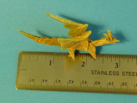 Tiny Origami Ancient Dragon Designed By Satos