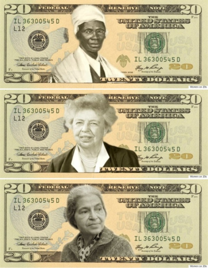 7 Redesigns Of The $20 Bill That Honor Women | Herstory | Scoop.it