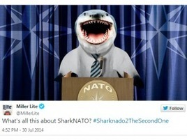Brands Jump the Sharknado With Whirlwind of Fishy Pun Tweets | AdWeek | Small Business Development | Scoop.it