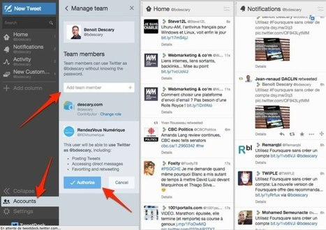 Twitter Teams, la gestion de comptes équipes arrive sur Tweetdeck | Inter Net'attitude | Scoop.it