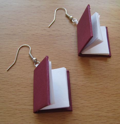 How to Make Book Earrings | LibraryLinks LiensBiblio | Scoop.it