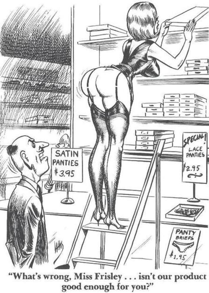 Vintage Risque Lingerie Cartoon | Sex History | Scoop.it