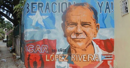 """Puerto Rican nationalist Oscar Lopez, who was serving 55 years in prison for… 
