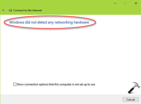 How To Fix Windows Did Not Detect Any Networkin...
