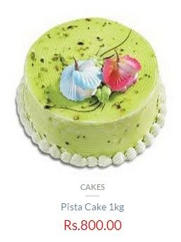 Pista 1 Kg Cake Rs 800 Only