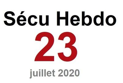 Sécu Hebdo 23 du 4 juillet 2020