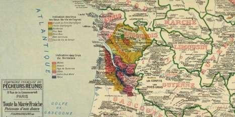 Carte gastronomique de la France de 1929S/ par A. Bourguignon... | Le vin quotidien | Scoop.it