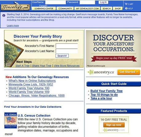 Ancestry Rationalizes Websites | British Genealogy | Scoop.it