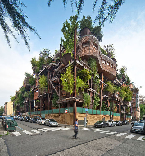 This Italian Apartment Building Uses 150 Trees To Protect Residents From Noise And Pollution | Italia Mia | Scoop.it