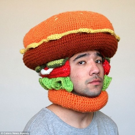 Hot Trending News » Artist crochets elaborate hats shaped hot dogs and  burgers 8dfd0f87092f