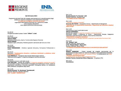 Ad Asti, il 28 marzo, la giornata per le scuole sul risparmio energetico | scatol8® | scatol8® | Scoop.it