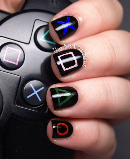 Unusual nail art ideas scoop the nailasaurus playstation nail art unusual nail art ideas scoop prinsesfo Images