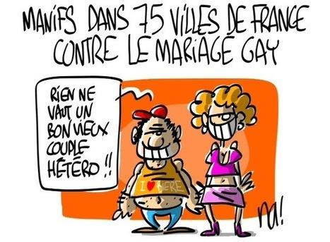 Manifs dans 75 villes de France contre le mariage gay | Baie d'humour | Scoop.it