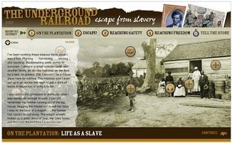 Free Technology for Teachers: Scholastic Presents an Interactive Underground Railroad Lesson | Maryland School Libraries and Technology | Scoop.it