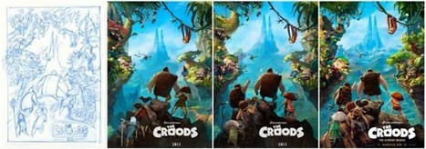 "From Sketch To Finished Poster In Four ""Easy"" Steps - Chris Sanders' The Croods 