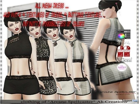 Asia Dress With Texture HUD Group Gift by *Arcane Spellcaster* Ak-Creations | Teleport Hub - Second Life Freebies | Second Life Freebies | Scoop.it