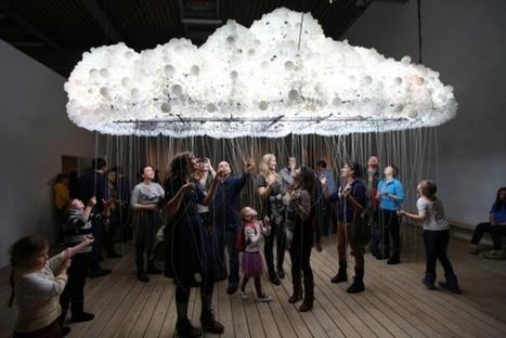 Cloud : Sculpture interactive construite avec 6000 ampoules. | TrendsArt | Scoop.it