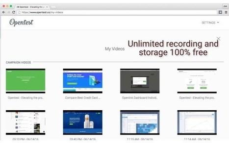 OpenTest. Créer des tutoriels vidéo le plus simplement du monde | web by Lemessin | Scoop.it