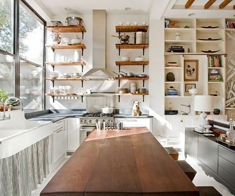 Open Kitchen Shelves Inspiration | Designing Interiors | Scoop.it